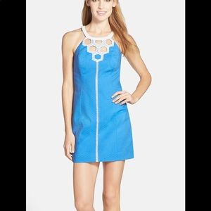 LILLY PULITZER Molly Cutout Neck Cotton Shift Dres
